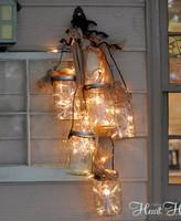 Hazlo tú mismo: una lámpara de lo más navideña con botes de cristal