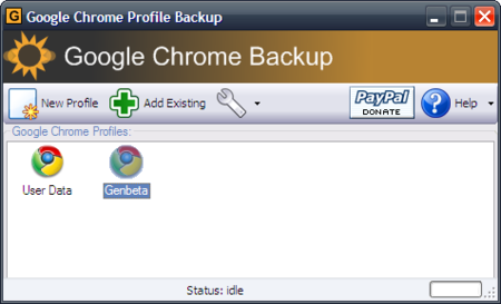 Gestiona perfiles en Chrome con Google Chrome Profile Backup