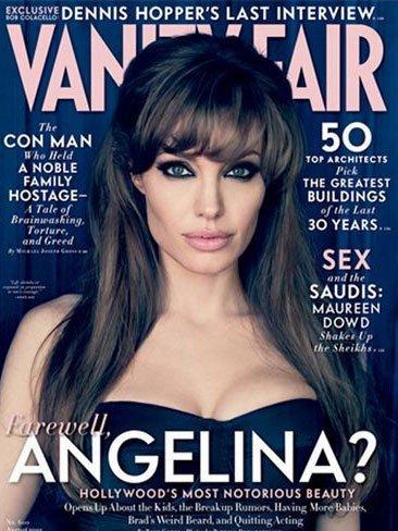 Angelina Jolie vuelve impresionante a la portada de Vanity Fair