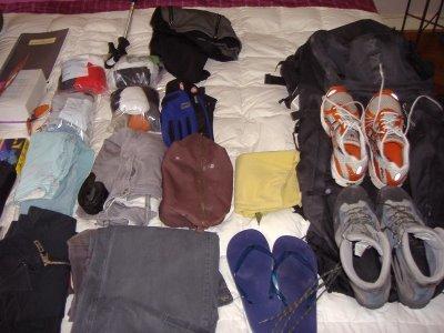 Preparando la mochila para un largo viaje