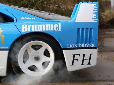 Farmkhana: cuando los chicos de Tax The Rich sacan a pasear el Ferrari F40 GT pasa esto