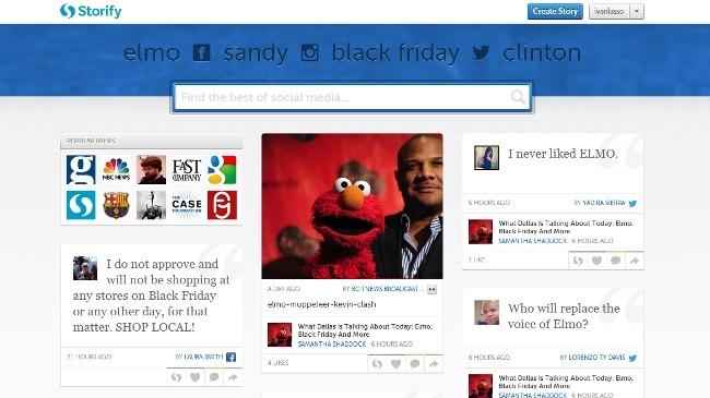 Storify se rediseña de puertas afuera incluyendo imagenes de portada en los perfiles de usuario y vistas de elementos