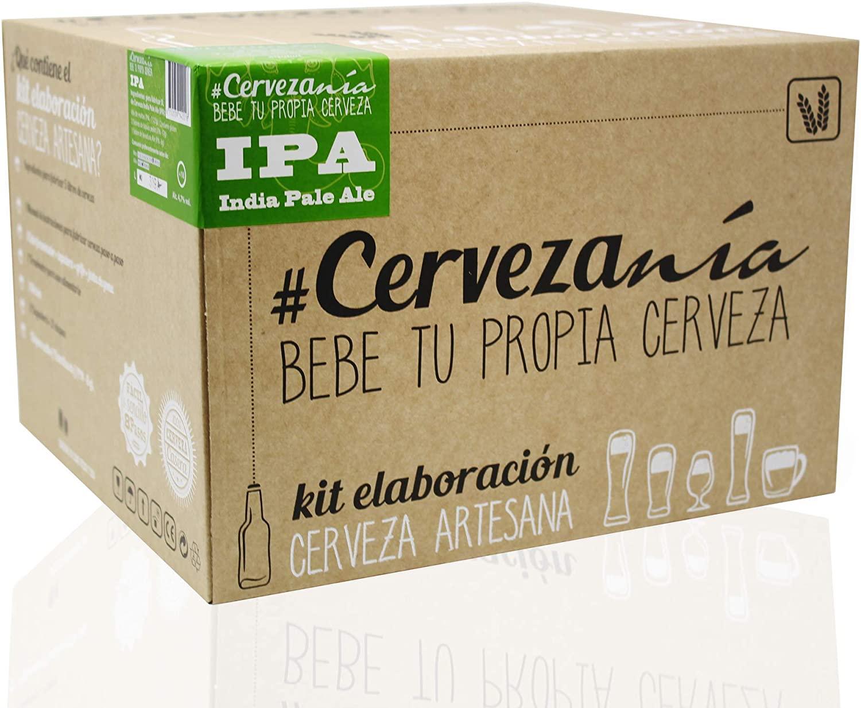 #Cervezanía - Kit de elaboración de cerveza artesana India Pale Ale IPA. Elabora 5 litros de cerveza en casa