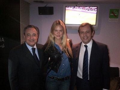 Las modelos tampoco se perdieron el clásico Barça-Madrid