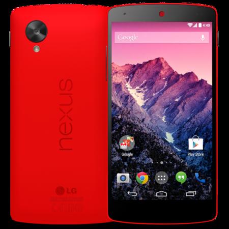 Google lanza oficialmente un Nexus 5 rojo
