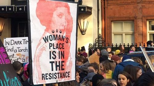 Las estrellas de Hollywood se sumaron a la Marcha de las Mujeres contra Donald Trump