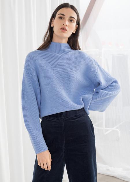 Jersey Cuello Alto Azul