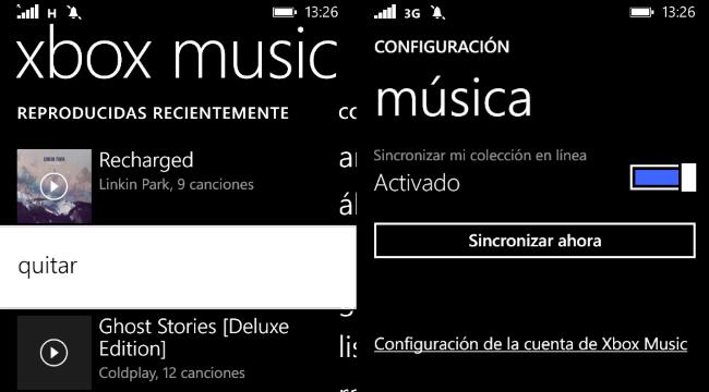 Xbox Music Delete Items
