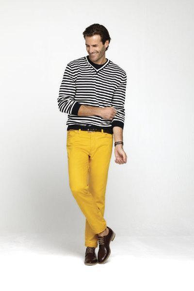 Pantalón amarillo Pedro del Hierro Primavera 2013