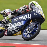 Tony Arbolino domina Moto3 el viernes en Silverstone con Marco Bezzecchi al acecho