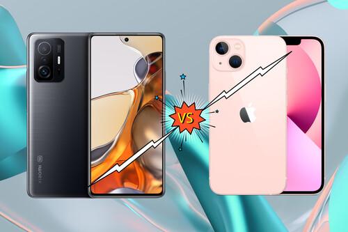 Xiaomi 11T Pro e iPhone 13, frente a frente: ¿quién gana?