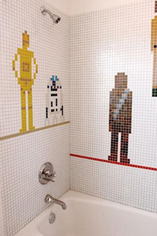 El baño de un amante de Star Wars