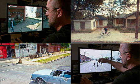 "La ""foto"" de Doug Rickard utilizando Google Street View"