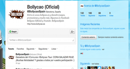 Detalle Perfil Twitter Bollycao