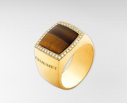 Joyas masculinas, el anillo Chevalière Dandy de Chaumet
