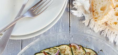 Calabacitas con finas hierbas al horno. Receta vegetariana fácil