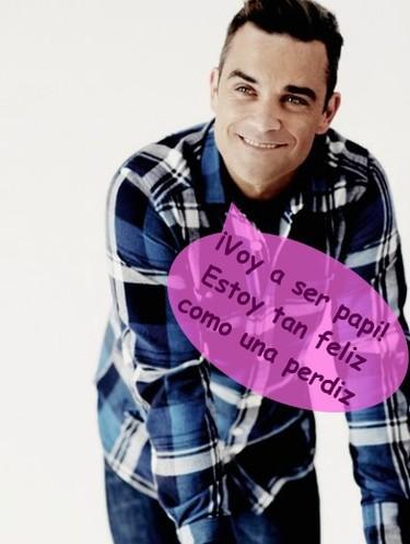 Robbie Williams ya tendrá a quién dejarle la herencia