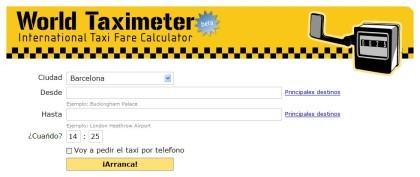 World Taximeter: tarifas de taxi de todo el mundo