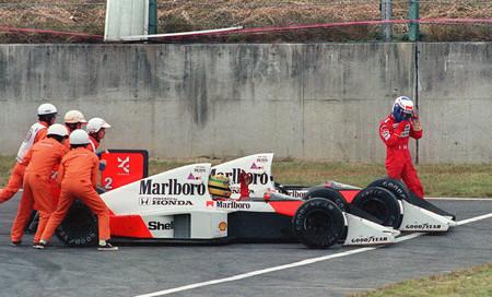 Ayrton Senna Prost Suzuka 1989