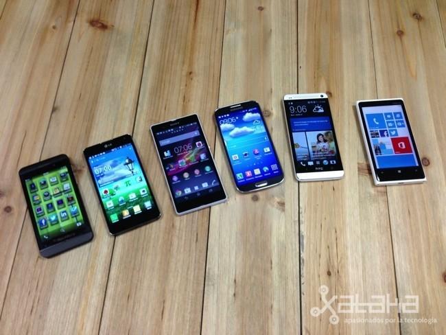 Los mejores smartphones de 2013 juntos