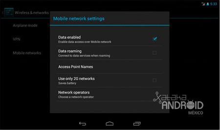 Configurar redes móviles
