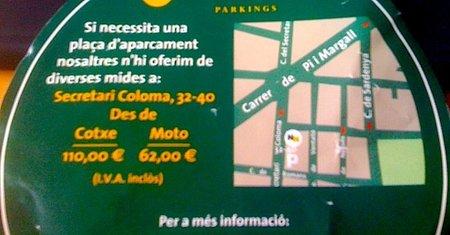 Discriminación en el precio de las plazas de parking para motos
