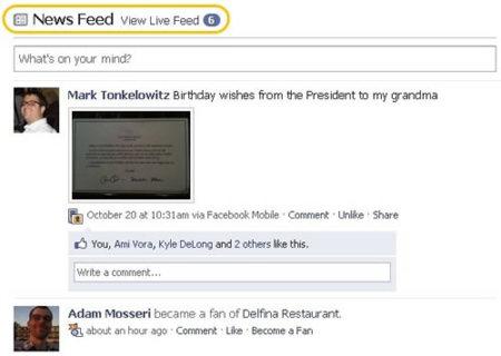 Cambios en la interfaz de Facebook