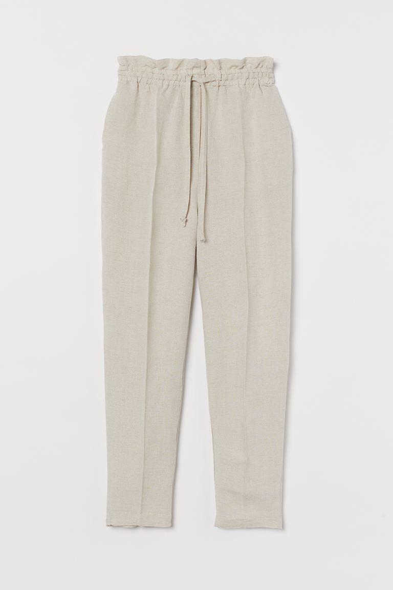 Pantalón en mezcla de lino
