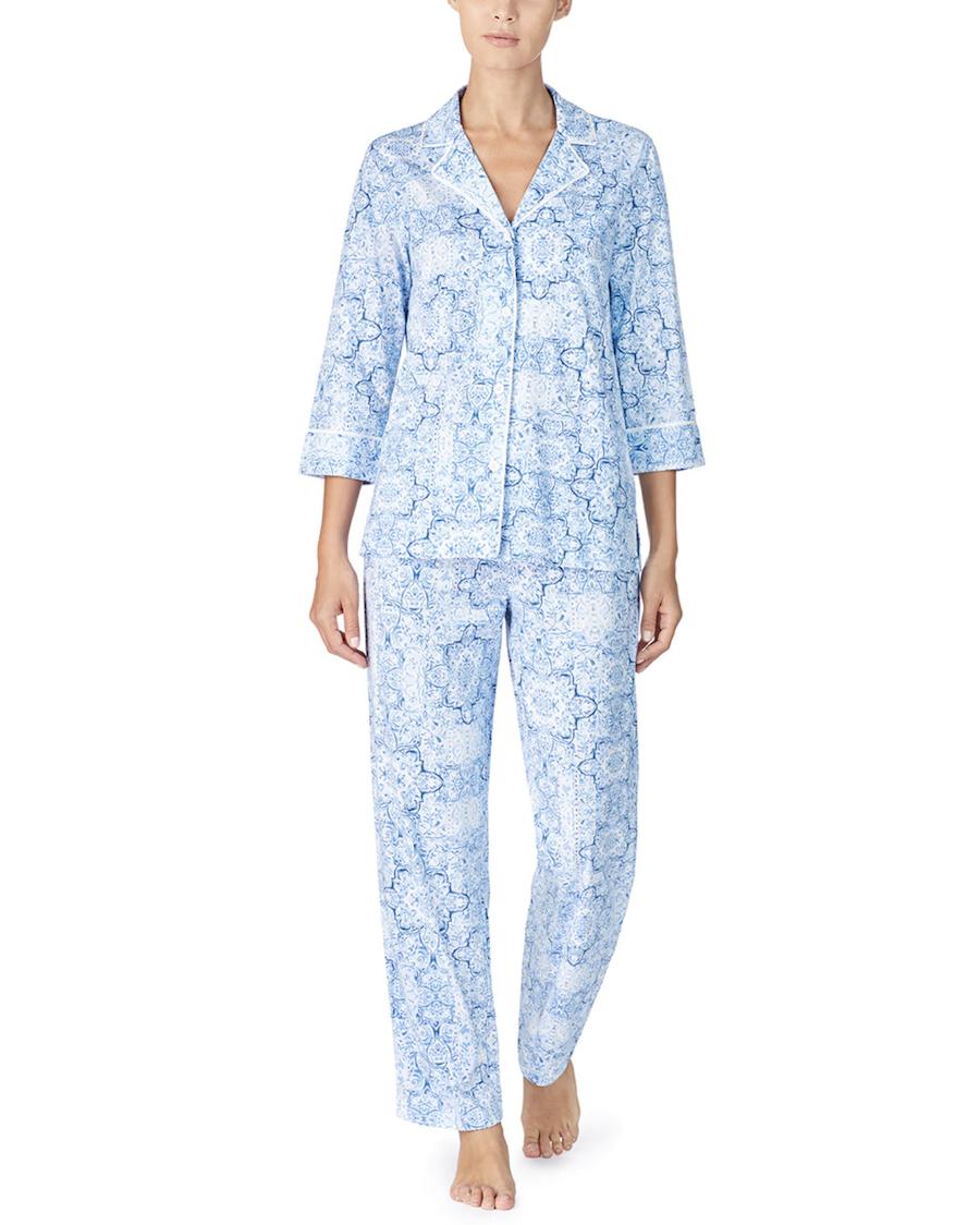 Pijama de mujer Classic Knits estampado paisley manga tres cuartos