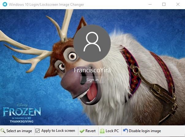 Personalizar fondo WinLogon de pantalla de W10
