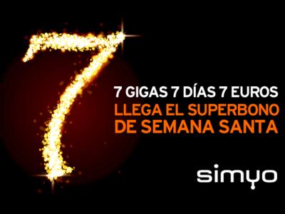 Simyo tiene un bono de datos para Semana Santa: 7 GB durante siete días por siete euros