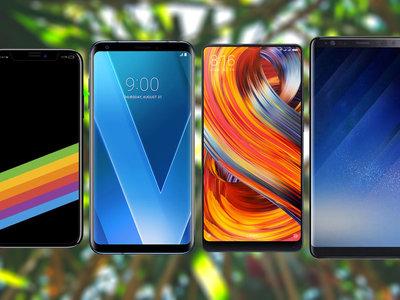 Nuevo iPhone X frente al Samsung Note 8, Mi Mix 2 y LG V30: la guerra de los smarpthones sin marcos