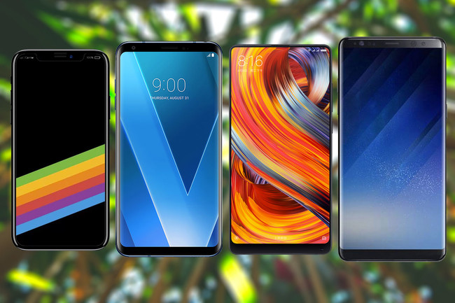 iPhone X vs Note 8 vs Mi Mix 2 vs LG V30 comparativa