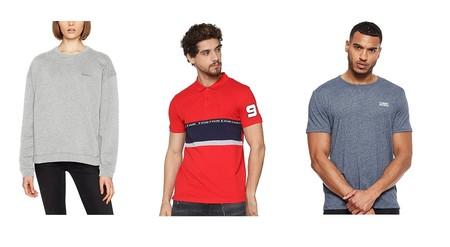 Chollos en tallas sueltas de pantalones, camisetas y sudaderas de marcas como Levi's, Tommy Hilfiger o Jack & Jones por menos de 15 euros en Amazon