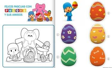 La Pascua de Pocoyó: juegos y dibujos para colorear