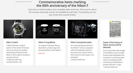Nikon F 50 Years Merchandising