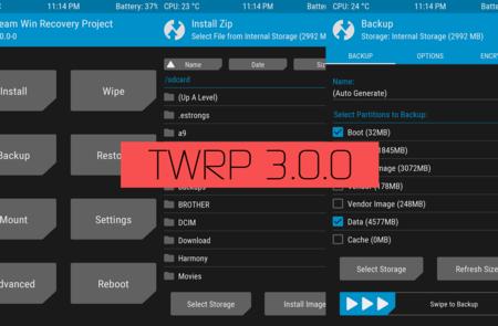 TWRP 3.0 llega con un aire de frescura en su diseño