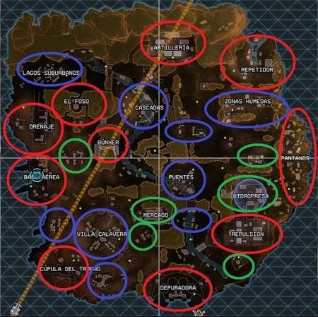 Mapa Apex