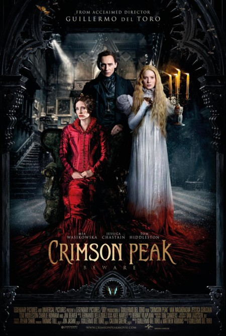 Póster final de La Cumbre Escarlata (Crimson Peak)