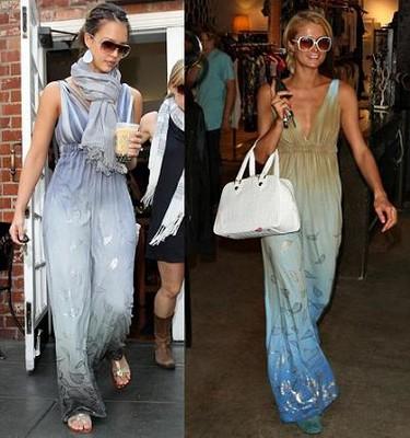Vestido hippie: ¿Jessica Alba o Paris Hilton?