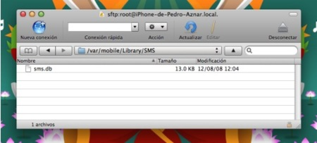 Cómo hacer copias de seguridad de los SMS en el iPhone, mediante SSH