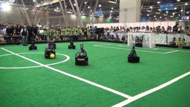 Algunas imágenes de RoboCup 2015, la copa mundial de fútbol robótico