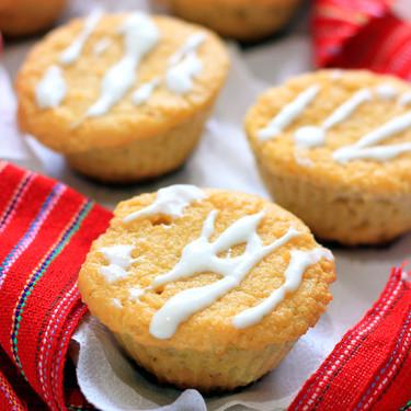 Muffins de harina de coco y limón. Receta sin gluten