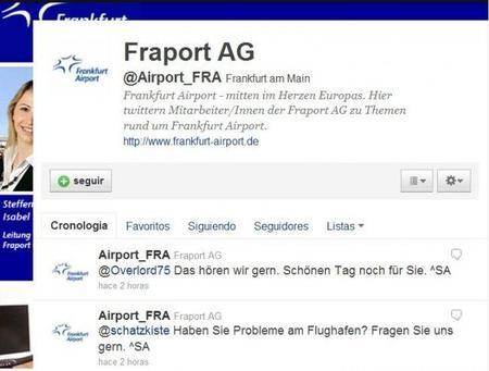 El aeropuerto de Frankfurt dice presente en Twitter
