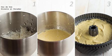 Bundt Cake de nata y vainilla para el Día Internacional del Bundt Cake. Receta paso a paso