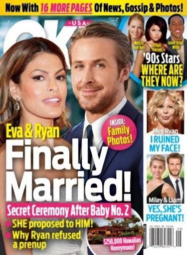 La boda secreta de Eva Mendes y Ryan Gosling