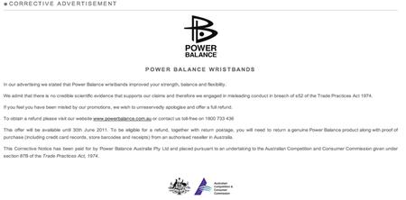 Power Balance: reconociendo el engaño