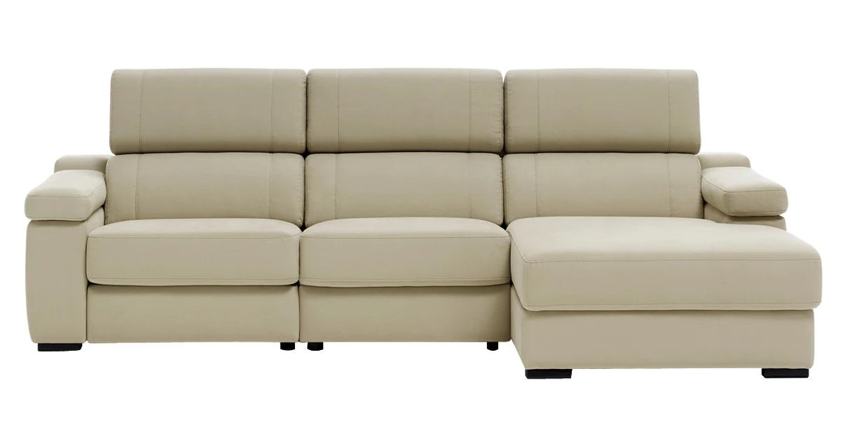 Sofá tapizado de 3 plazas reclinable y con chaise longue derecho City El Corte Inglé