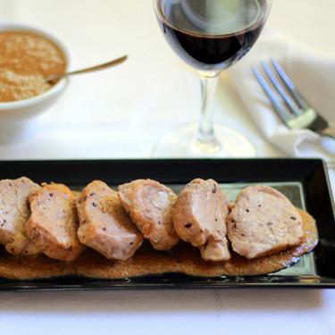 Solomillo de cerdo con salsa de foie, la mejor receta de aprovechamiento