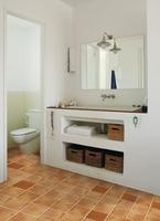 Mueble de obra bajolavabo una buena idea en baños pequeños